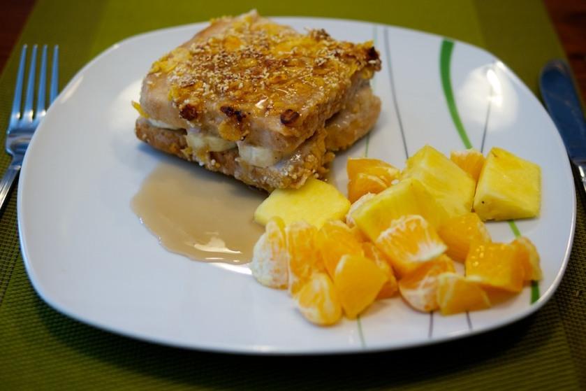 Berliner Toast mit Ahornsirup