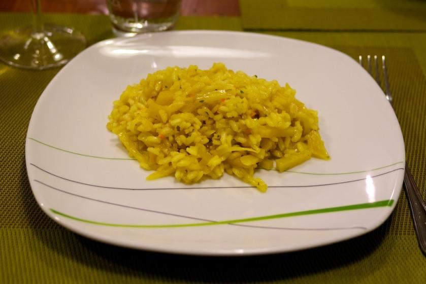 Gelbe Beete Risotto
