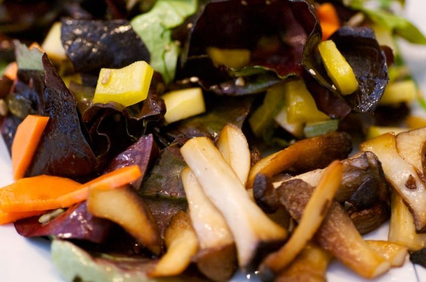 Salat mit Kräuterseitlingen