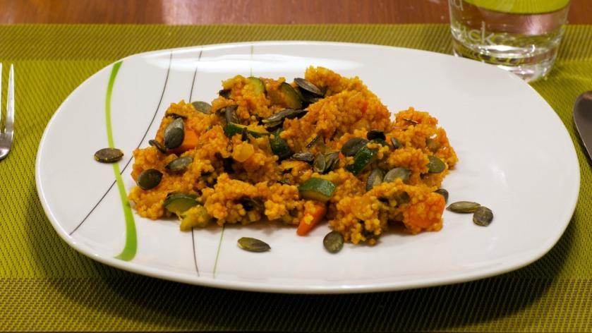 Hirsepfanne mit Zucchini und Aubergine (1)