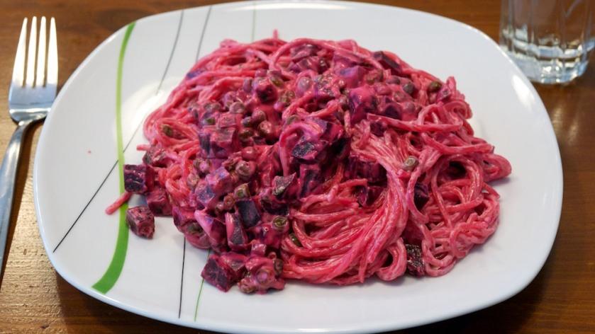Rote Beete Spaghetti