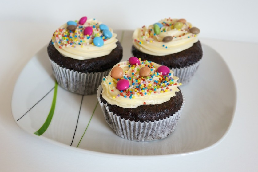 Schoko-Cupcakes mit Buttercreme