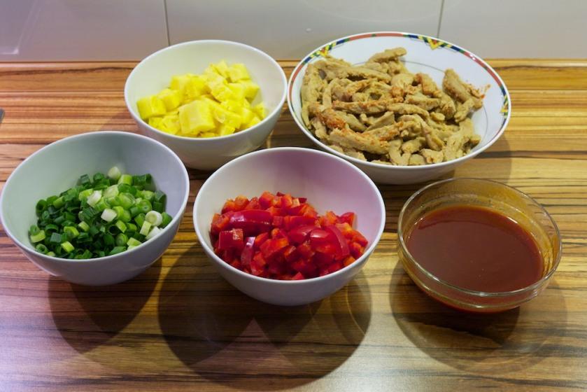 Soja-Schnetzel Süß Sauer (Zutaten)