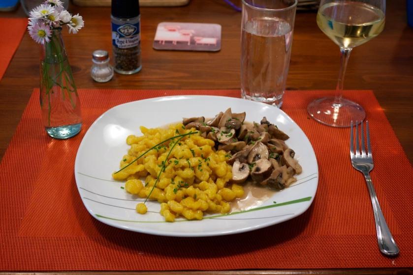 Spätzle mit Champignons (1)