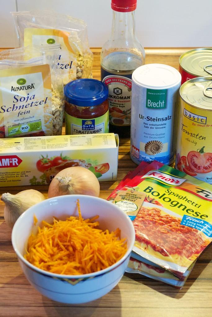 Vegane Spaghetti Bolognese (Zutaten)