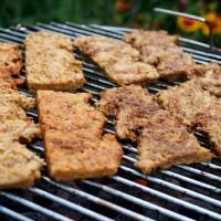 Vegane Grillerei - Soja Big Steaks und Gemüsespieße