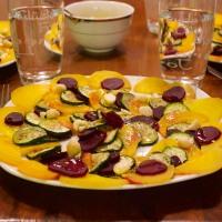 Rote- und Gelbe-Bete-Zucchini-Carpaccio