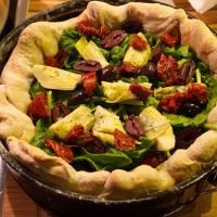 Mozzarella Mac Deep Dish Pizza (vegan)